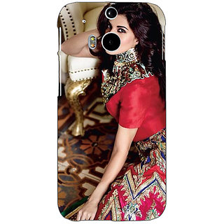 Enhance Your Phone Bollywood Superstar Jacqueline Fernandez Back Cover Case For HTC One M8 E141051
