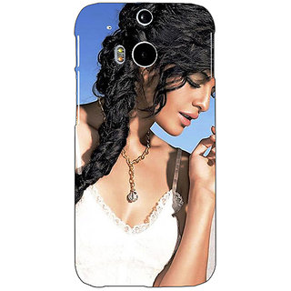 Enhance Your Phone Bollywood Superstar Jacqueline Fernandez Back Cover Case For HTC One M8 E141052