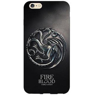 Enhance Your Phone Game Of Thrones GOT House Targaryen  Back Cover Case For Apple iPhone 6 E150145