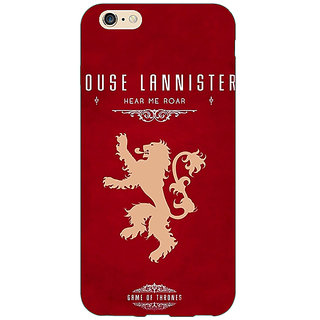 Enhance Your Phone Game Of Thrones GOT House Lannister  Back Cover Case For Apple iPhone 6 E150160