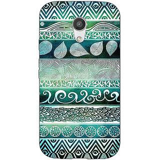 Enhance Your Phone Aztec Girly Tribal Back Cover Case For Moto G (2nd Gen) E200076
