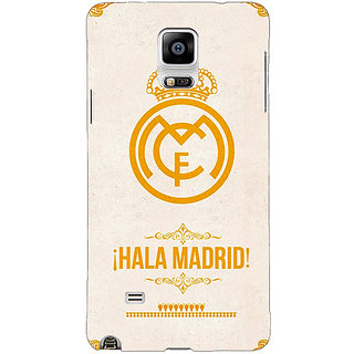 Enhance Your Phone Real Madrid Back Cover Case For Samsung Galaxy Note 4 E210593