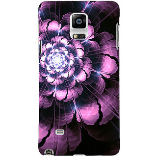 Enhance Your Phone Abstract Flower Pattern Back Cover Case For Samsung Galaxy Note 4 E211502