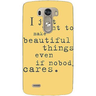 Enhance Your Phone Quote Back Cover Case For Lg G3 D855 E221335