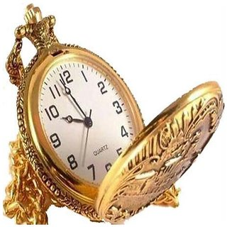 Artzz Gold Metal Pocket Watch