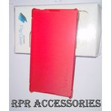 Sony Xperia C S39h C2305 RED Flip Cover Hard Back Shell Cover Case Pouch