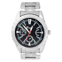 Raux Black Round Dial Analog Watch For Men-RX-048