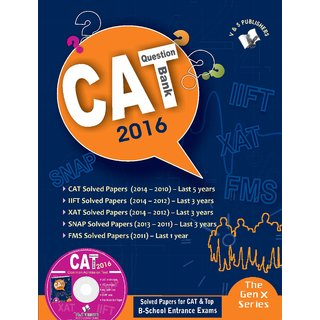 CAT QUESTION BANK 2016 (WITH CD)