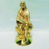 Beautiful Brass Statue/idol/figurine/murti Of Lord Sai Baba BSAI105