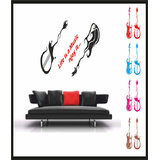 Decals - Myritzy Guitar & Music Living Room Wall Decal (Black)