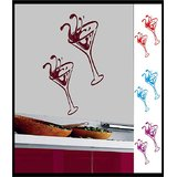 Decals - Myritzy Wine Glass Living Room Wall Decal (Maroon)
