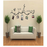 Decals - Myritzy Love You Family Photo Frame Living Room Wall Decal (Black)