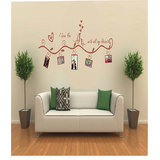 Decals - Myritzy Love You Family Photo Frame Living Room Wall Decal (Brown)