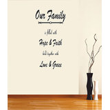 Decals - Myritzy Faith & Hope Living Room Wall Quotes (Black)