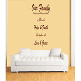 Decals - Myritzy Faith & Hope Living Room Wall Quotes (Brown)
