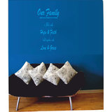 Decals - Myritzy Faith & Hope Living Room Wall Quotes (Blue)