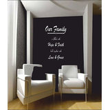 Decals - Myritzy Faith & Hope Living Room Wall Quotes (White)