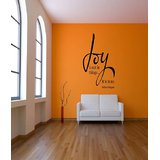 Decals - Myritzy Joy Is Not In Things Living Room Wall Quote (Black)