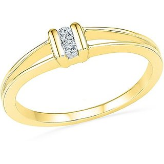 Fancy Yellow Gold Diamond Ring For Womens