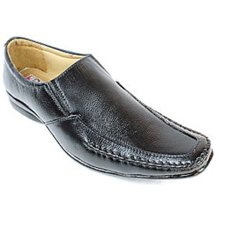 JerryMouse.in Mens Black Leather Formal Shoe - MCAS0034