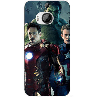 Enhance Your Phone Super Heroes Avengers Age of Ultron Back Cover Case For HTC M9 Plus E680844