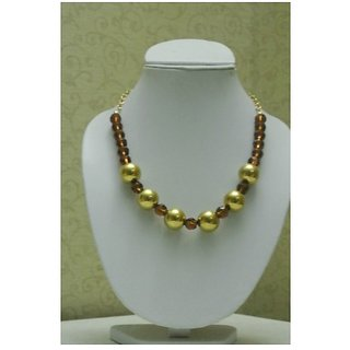 Golden And Brown Color Beaded Jewellery
