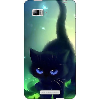 Enhance Your Phone Cute Black Kitten Back Cover Case For Lenovo K910
