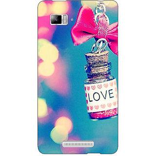 Enhance Your Phone Love Bottle Back Cover Case For Lenovo K910