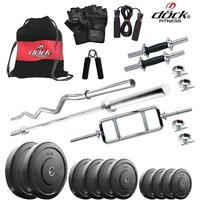 Dock 20 Kg Home Gym + 14 Dumbbells + 3 Rods + Gym Backpack Assorted + Accessories DR-20KGCOMBO1