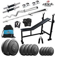 Dock 105Kg Home Gym + 14 Dumbbells + 2 Rods + 3 In 1 (I/D/F) Bench+ Gym Backpack Assorted + Accessories DB-105KGCOMBO5