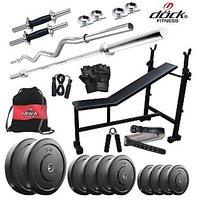 Dock 52Kg Home Gym + 14 Dumbbells + 2 Rods + 3 In 1 (I/D/F) Bench+ Gym Backpack Assorted +Gym Belt + Accessories DR-52KGCOMBO6
