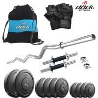 Dock 10 Kg Home Gym + 14 Dumbbells + Curl Rod + Gym Backpack Assorted + Accessories DB-10KGCOMBO4
