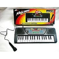 37 KEY BATTERY OPERATED MUSICAL KEYBOARD PIANO WITH MICROPHONE [CLONE] [CLONE] - 2457010