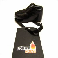 Men Black Shoe Look Stylish Refillable Cigarette Lighter