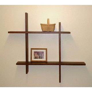 Onlineshoppee Beautiful Wooden Fancy Wall Decor Rack Shelves