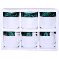 Pearl Green And White Tea Set