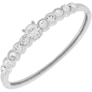 Touchstone Rhodium Plated Lovely  Attractive Bracelet FPBR-B79-02A--W
