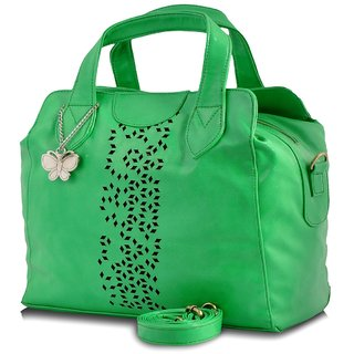 Butterflies Green Handbag