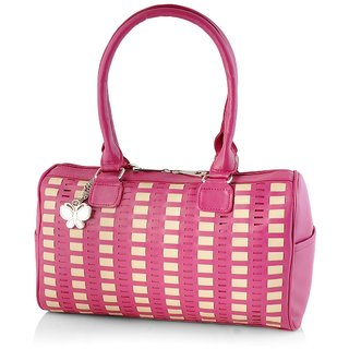 Butterflies Pink Shoulder Bag