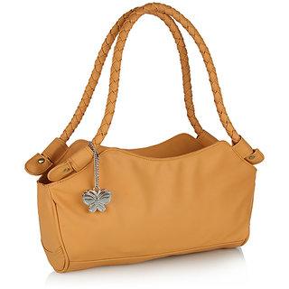 Butterflies Mustard Handbag