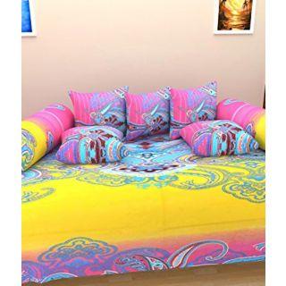 Shopgalore Cotton Diwan 8 Pcs Set (RTD-05)