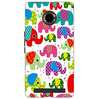 Enhance Your Phone Baby Elephant Pattern Back Cover Case For Micromax Yu Yuphoria