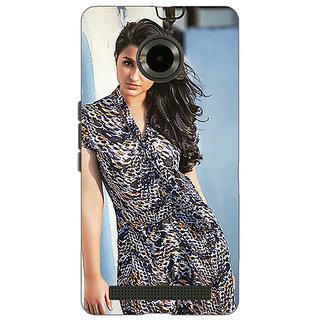 Enhance Your Phone Bollywood Superstar Parineeti Chopra Back Cover Case For Micromax Yu Yuphoria