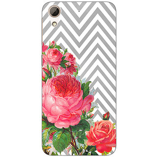 Enhance Your Phone Floral Pattern  Back Cover Case For HTC Desire 626