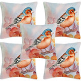 Krayon Vine Arts Digital Print Cushion Cover Set Of 5 Birds