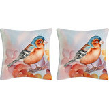 Krayon Vine Arts Digital Print Cushion Cover Pair Of Birds