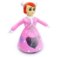 Battery Operated Cute Dancing Princess Doll With 3d Lights And Music
