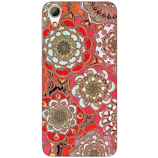 Enhance Your Phone Orange Flowers Pattern Back Cover Case For HTC Desire 728