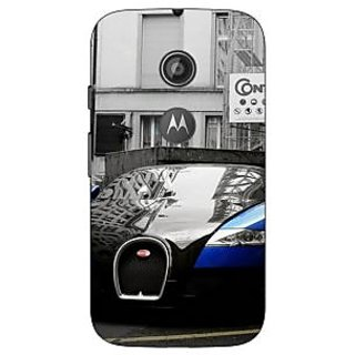 Enhance Your Phone Super Car Bugatti Back Cover Case For Moto E2 E650627