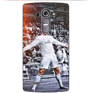 Enhance Your Phone Cristiano Ronaldo Real Madrid Back Cover Case For LG G4